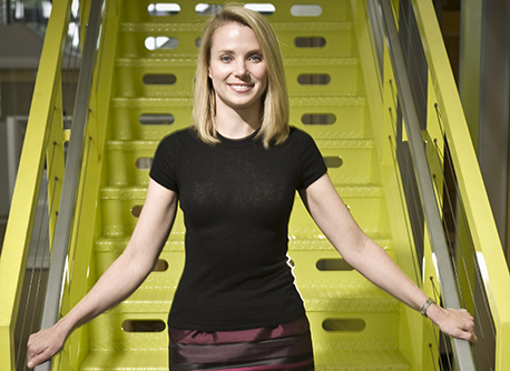 FILE PHOTO - Yahoo, Inc. named Google executive Marissa Mayer to be its next CEO, its fifth in five years. PICTURED: July 7, 2008 - Mountainview, California, U.S. - MARISSA MAYER, Google's VP of Search and User Experiences on the Google campus. Mayer was the first woman hired by Google, in 1999, and one of their first 20 employees. (Credit Image: © Martin Klimek/ZUMA Press)