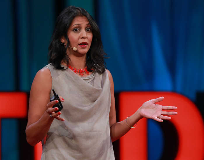 Sonia Shah speaks at a TedMed event