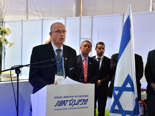IAI President and CEO Yossi Weiss, at the Israel Defense Ministry Pavilion at the Indian Defexpo 2016 trade show, said IAI had scored hundreds of millions of dollars in sales. (Photo: Courtesy of IAI)