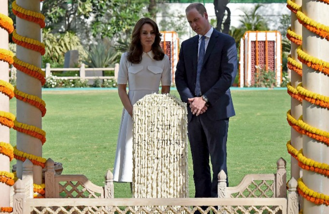 Prince Henry and his wife, Catherine, the Duchess of Cambridge, visit Gandhi Ss