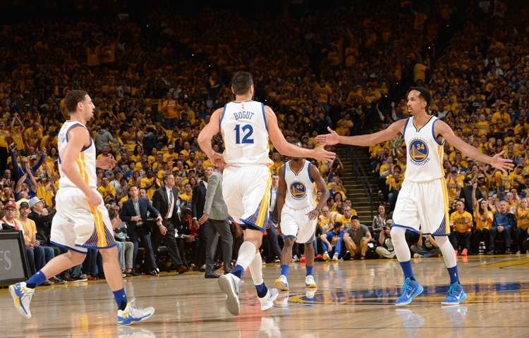The Warriors earned a 115-106 home victory against the Houston Rockets on Monday, April 18, extending their series lead to 2-0. (Noah Graham/NBAE/Getty Images)