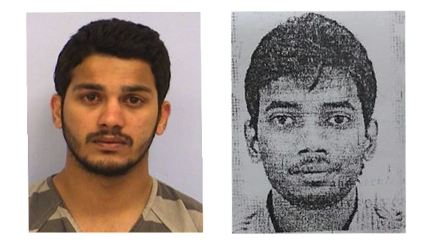 Left, 27-year-old Sai Sandeep Goud Kurremula booked with first degree murder by the police and right, deceased Gundam Sankirth.
