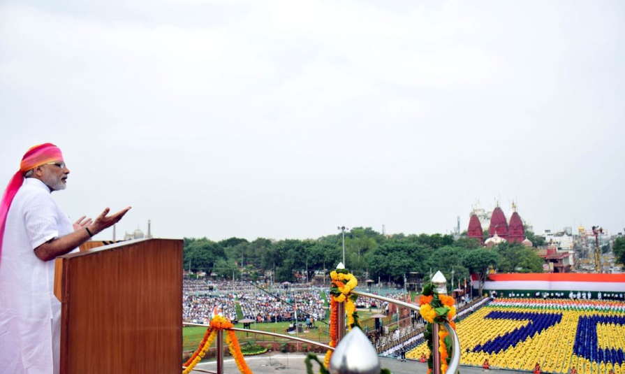 Indian Prime Minister Narendra Modi during his Independence Day speech.