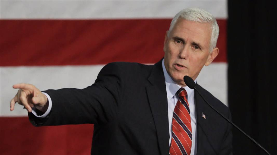 Republican vice presidential candidate Mike Pence took to the debate stage Tuesday night.