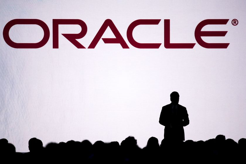 A silhouette on stage during the Oracle OpenWorld 2016 conference in San Francisco. Photographer: David Paul Morris/Bloomberg