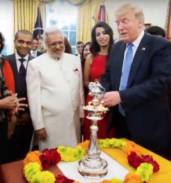 On the eve of Diwali, Indian Americans - Hindus, Sikhs, Jains,, including staff members of the Trump Cabinet gathered to light the ceremonial Diya to symbolize the victory of Light over darkness and good over evil